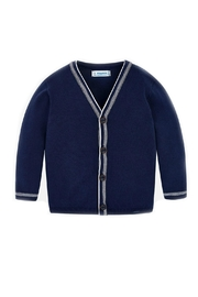 Mayoral Navy-Blue Classic Cardigan - Front cropped