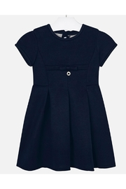 Mayoral Navy Pleated Dress - Front cropped