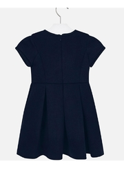 Mayoral Navy Pleated Dress - Front full body