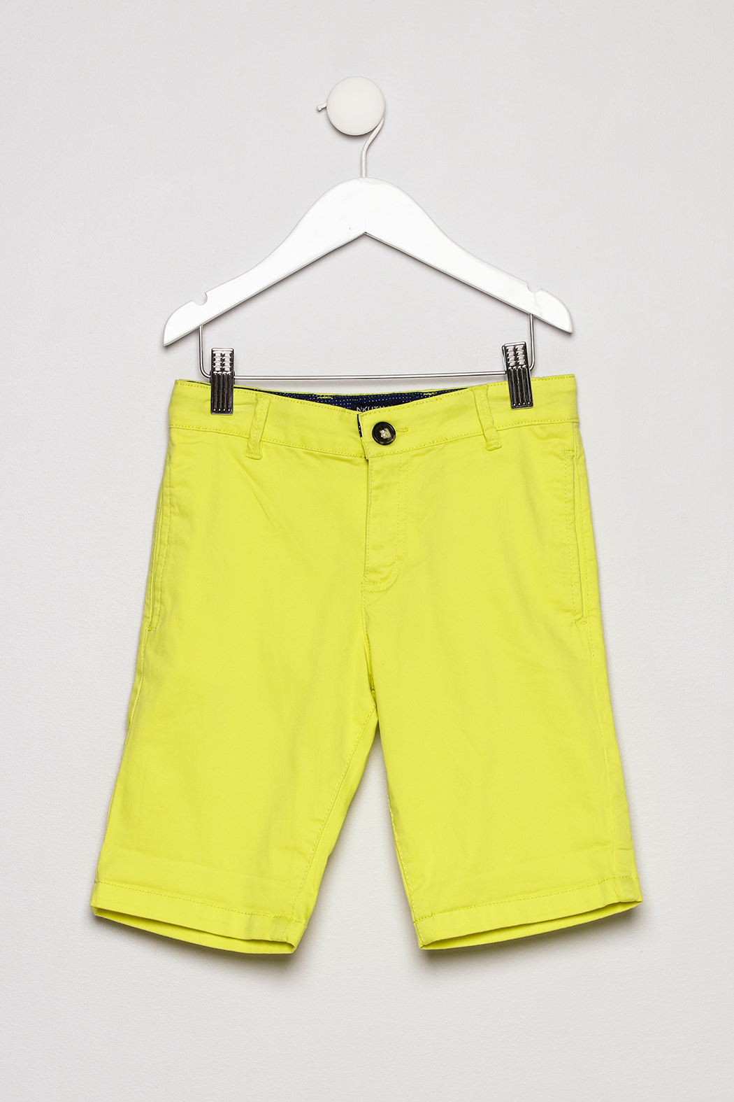 Mayoral Neon Yellow Shorts - Front Cropped Image