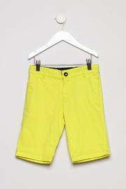 Mayoral Neon Yellow Shorts - Front cropped