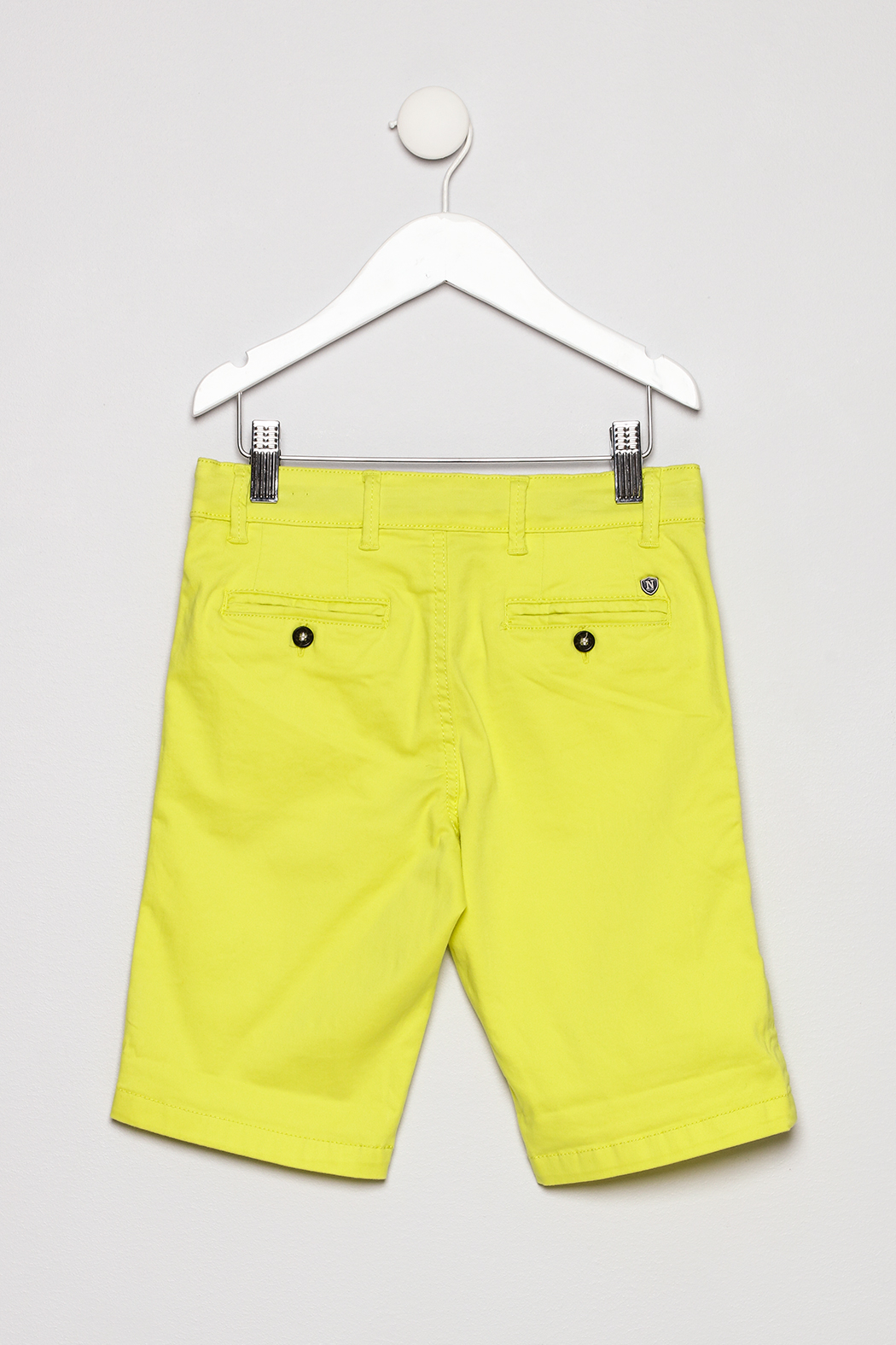 Mayoral Neon Yellow Shorts - Back Cropped Image