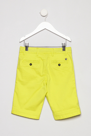 Mayoral Neon Yellow Shorts - Back cropped