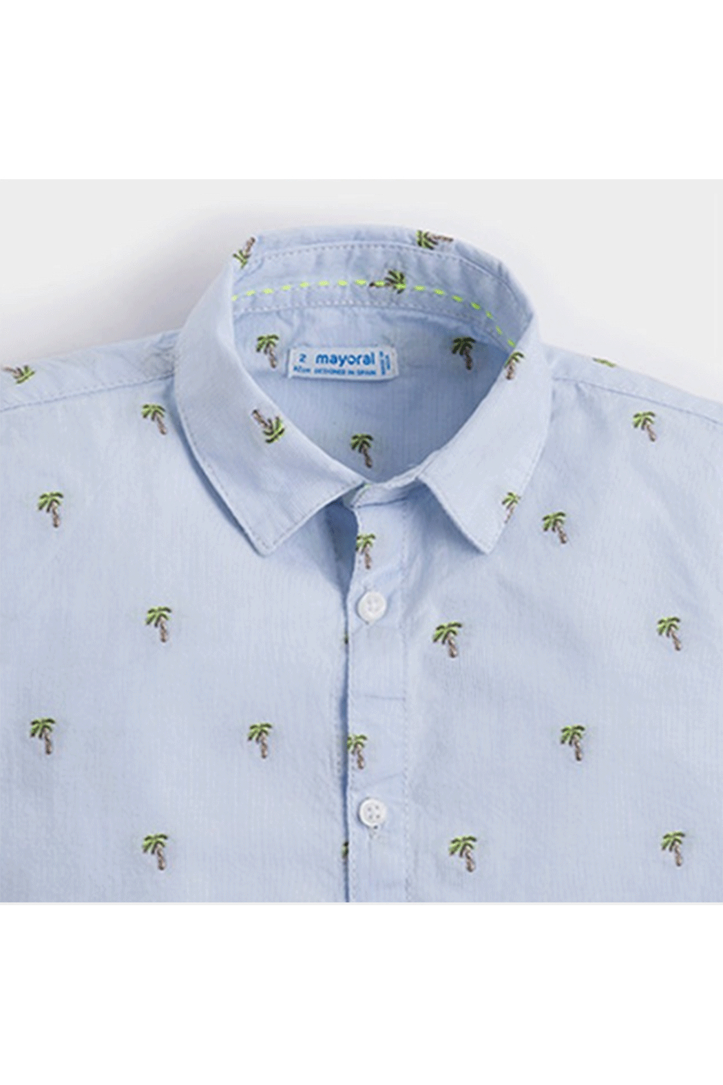 Mayoral Palm Tree Button-Up - Front Full Image