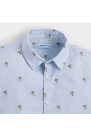 Mayoral Palm Tree Button-Up - Front full body