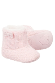 Mayoral Pink Fur Eskimo-Boots - Front cropped