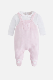 Mayoral Pink & Ivory Footie - Product Mini Image