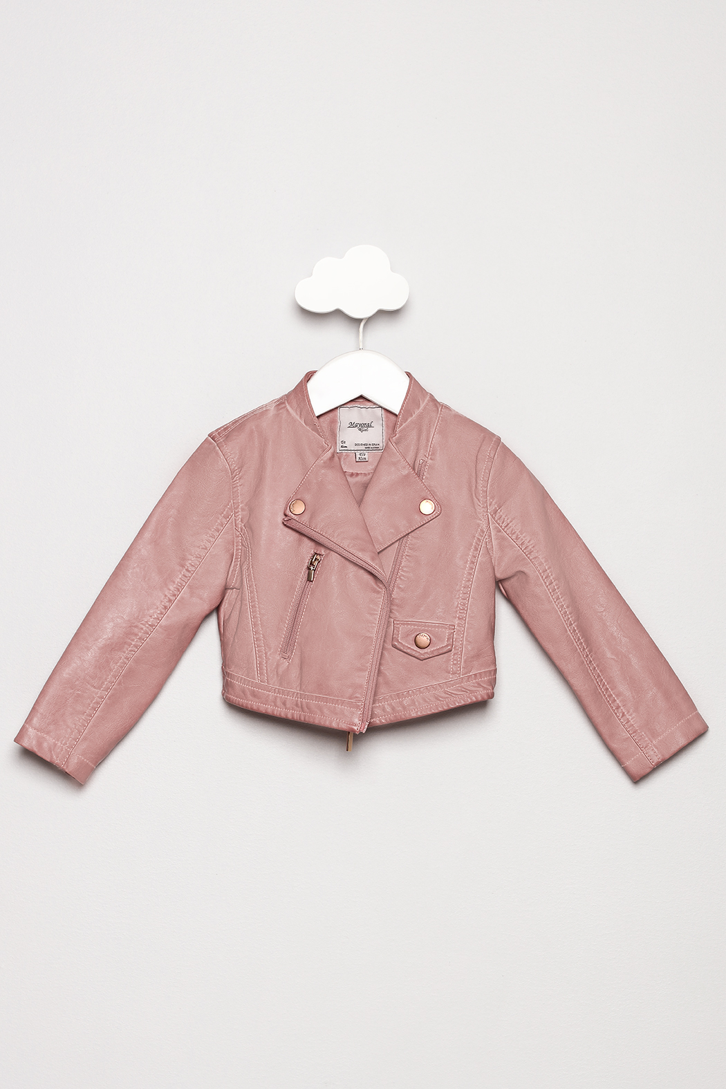 Mayoral Pink Leather Jacket - Main Image