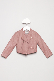 Mayoral Pink Leather Jacket - Product Mini Image