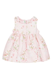 Mayoral Pink Linen Floral-Dress - Front full body