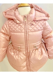 Mayoral Pink Puffer Jacket - Front cropped
