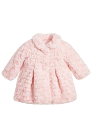 Mayoral Pink Rosette Fur Coat - Product Mini Image