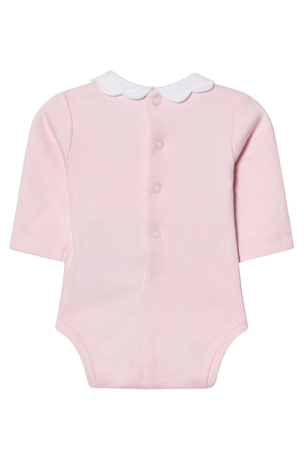 Mayoral Pink Scallop Collar Onesie - Front Full Image