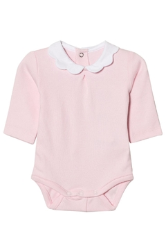Shoptiques Product: Pink Scallop Collar Onesie