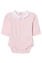 Mayoral Pink Scallop Collar Onesie - Front cropped