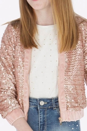 Mayoral Pink Sequin Jacket - Front cropped