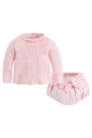 Mayoral Pink Sweater/bloomer Set - Product Mini Image