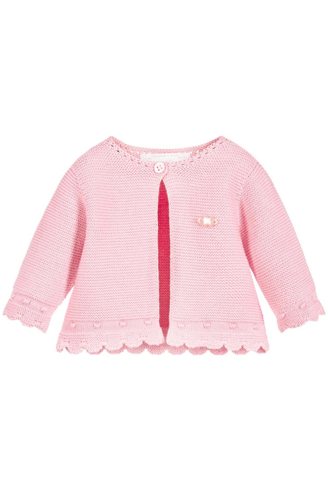 Mayoral Pink Sweater Cardigan - Front Cropped Image