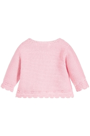 Mayoral Pink Sweater Cardigan - Front full body