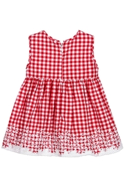 Mayoral Red Gingham Dress - Front full body