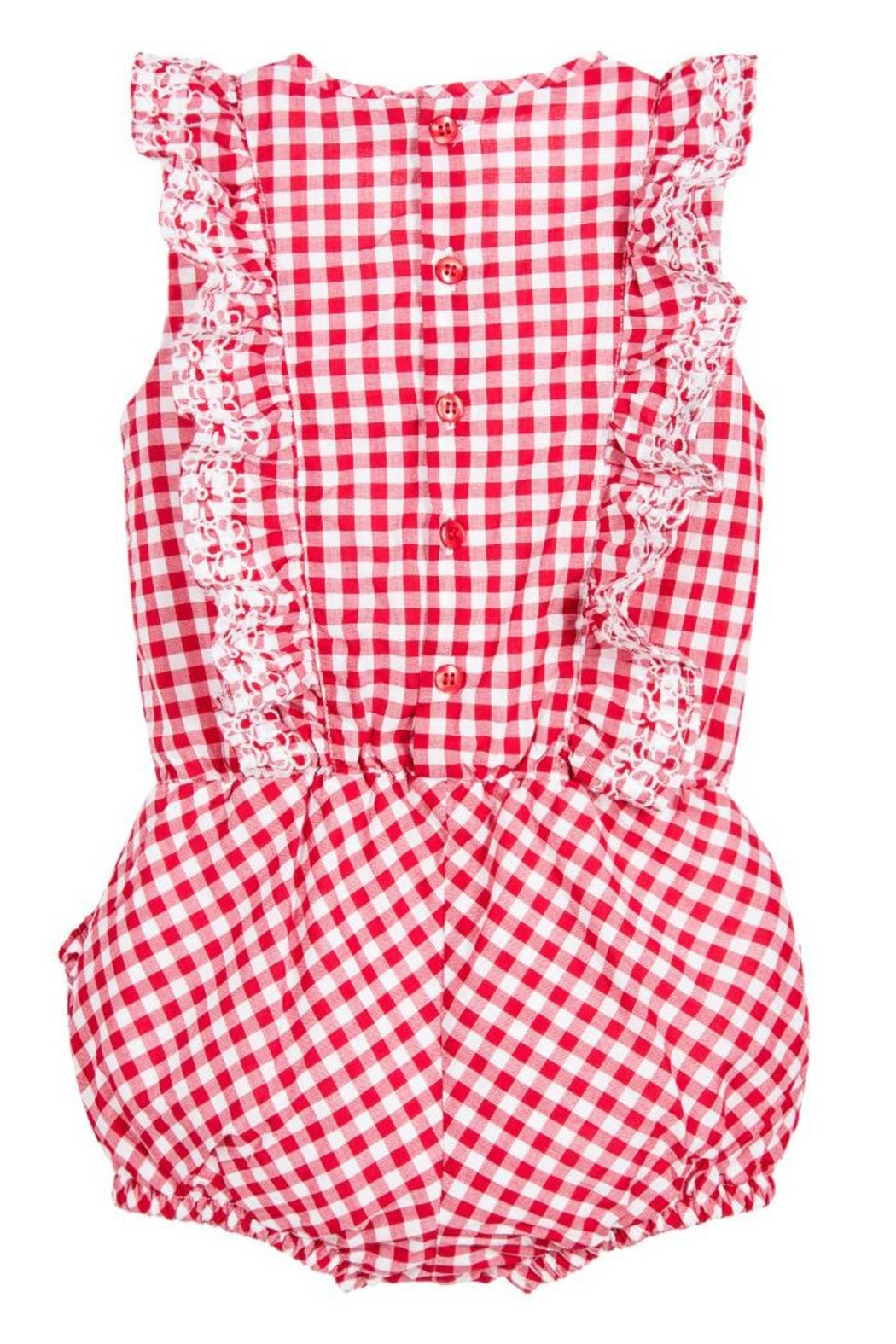 Mayoral Red Gingham Romper - Front Full Image