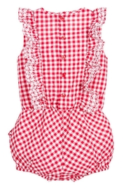 Mayoral Red Gingham Romper - Front full body