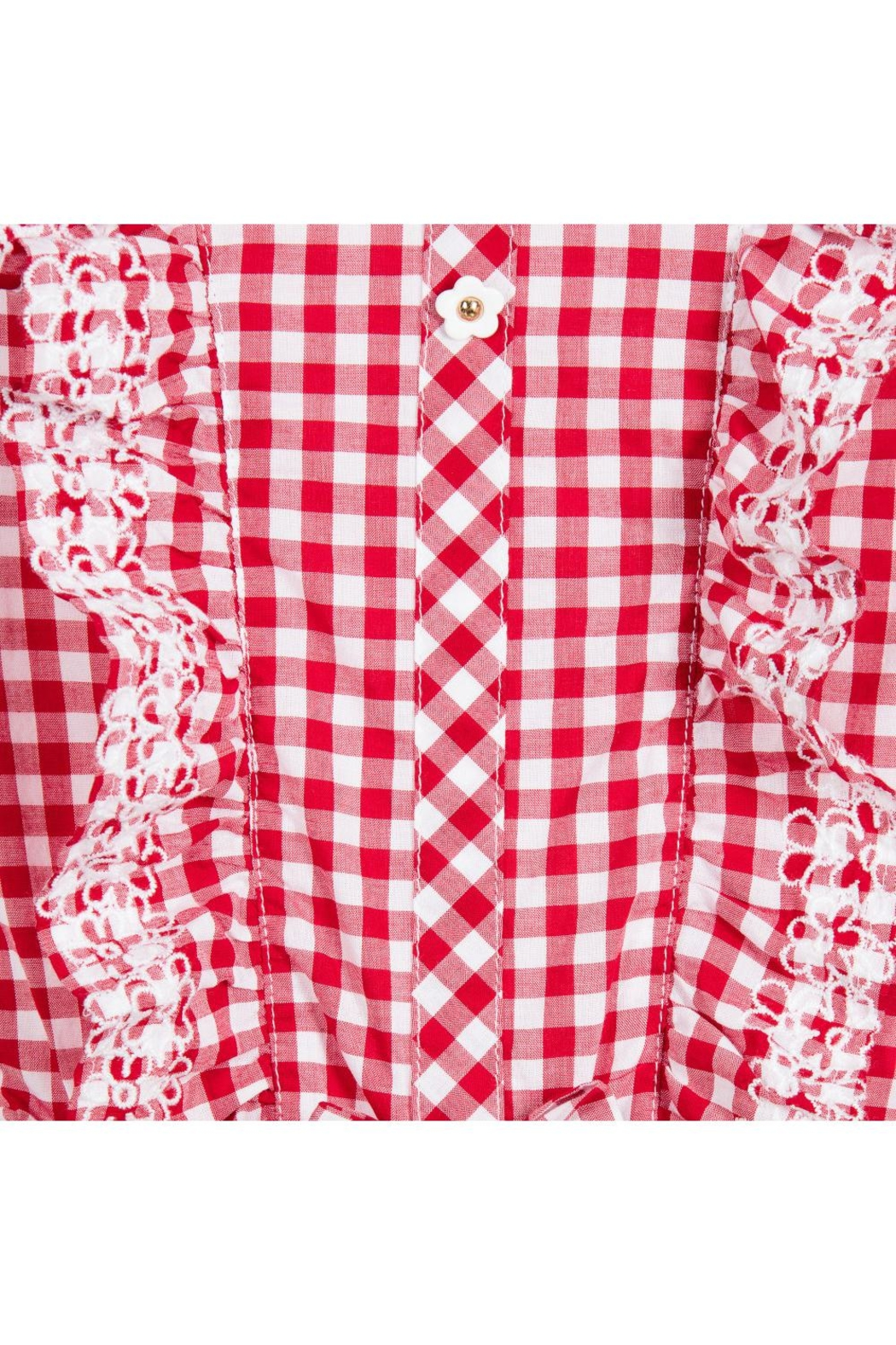 Mayoral Red Gingham Romper - Side Cropped Image