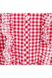 Mayoral Red Gingham Romper - Side cropped