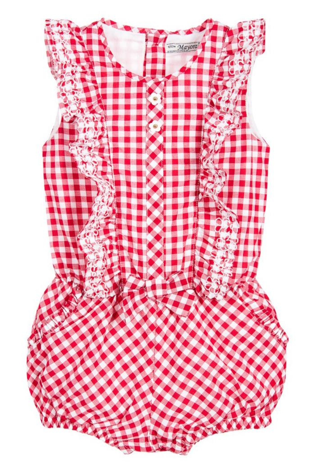 Mayoral Red Gingham Romper - Main Image
