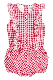 Mayoral Red Gingham Romper - Product Mini Image