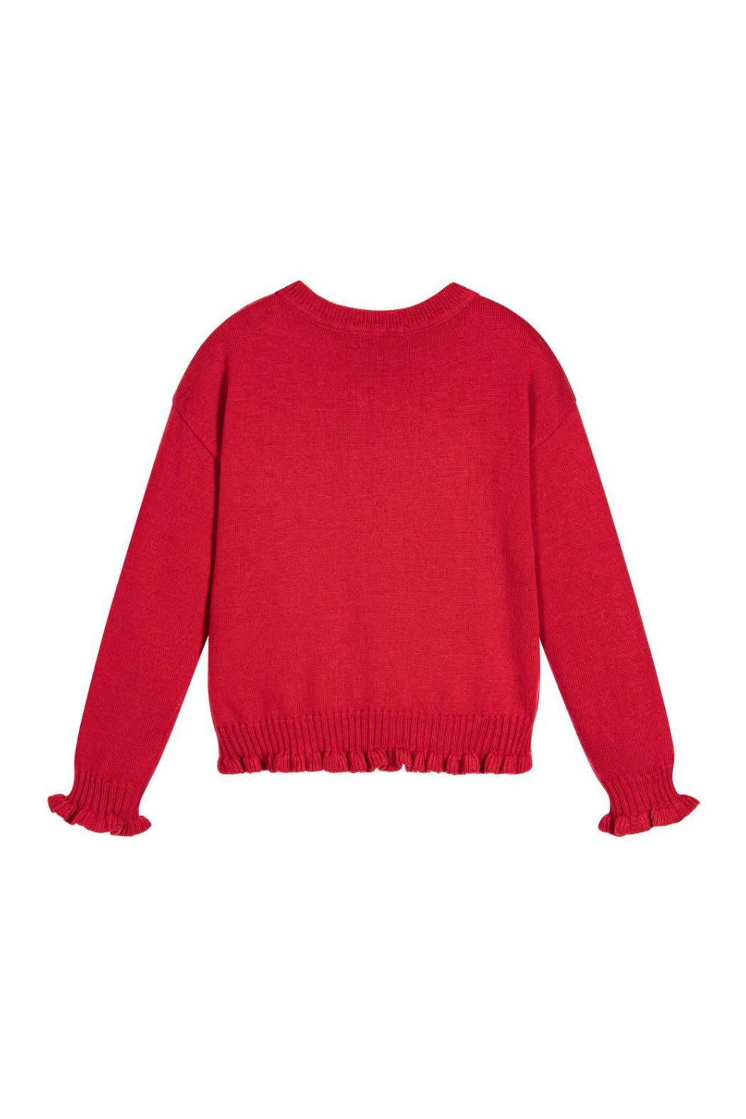 Mayoral Red Knitted Sweater - Front Full Image