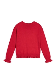 Mayoral Red Knitted Sweater - Front full body
