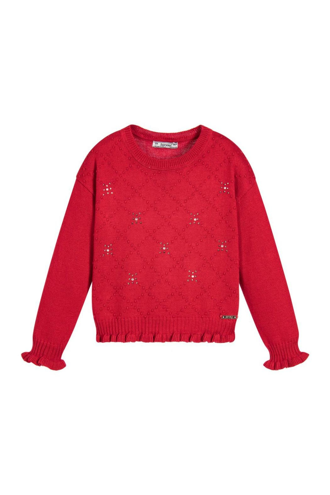 Mayoral Red Knitted Sweater - Main Image