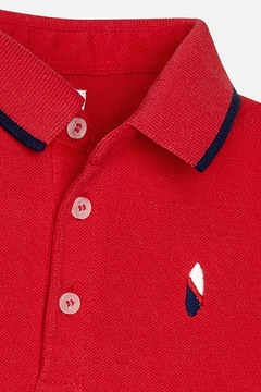 Mayoral Red-Polo-Striped-Navy-Short-Set - Alternate List Image