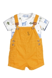 Mayoral Safari Dungarees/t-Shirt Set - Product Mini Image
