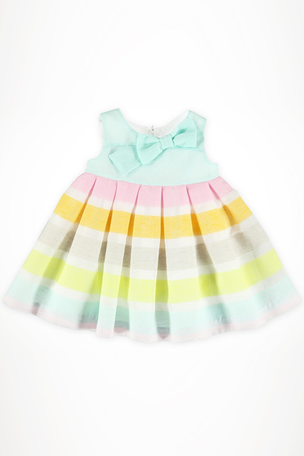 Mayoral Sherbert Striped Dress - Front Cropped Image