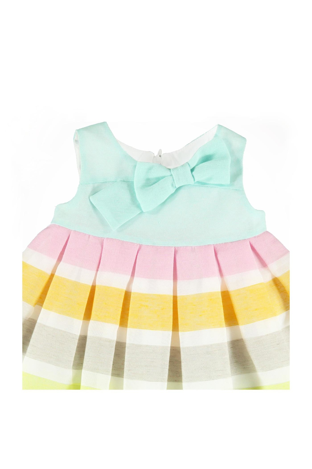 Mayoral Sherbert Striped Dress - Front Full Image
