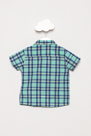 Mayoral Short Sleeve Checked Shirt - Back cropped
