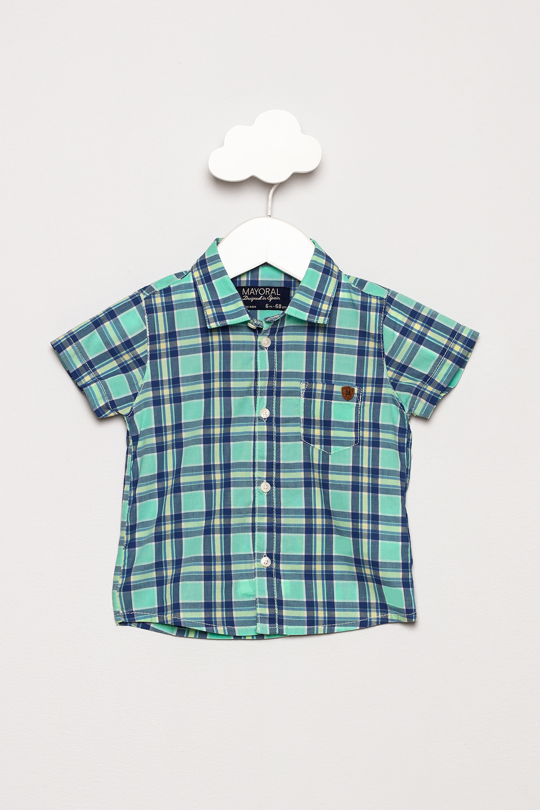 Mayoral Short Sleeve Checked Shirt - Front Cropped Image