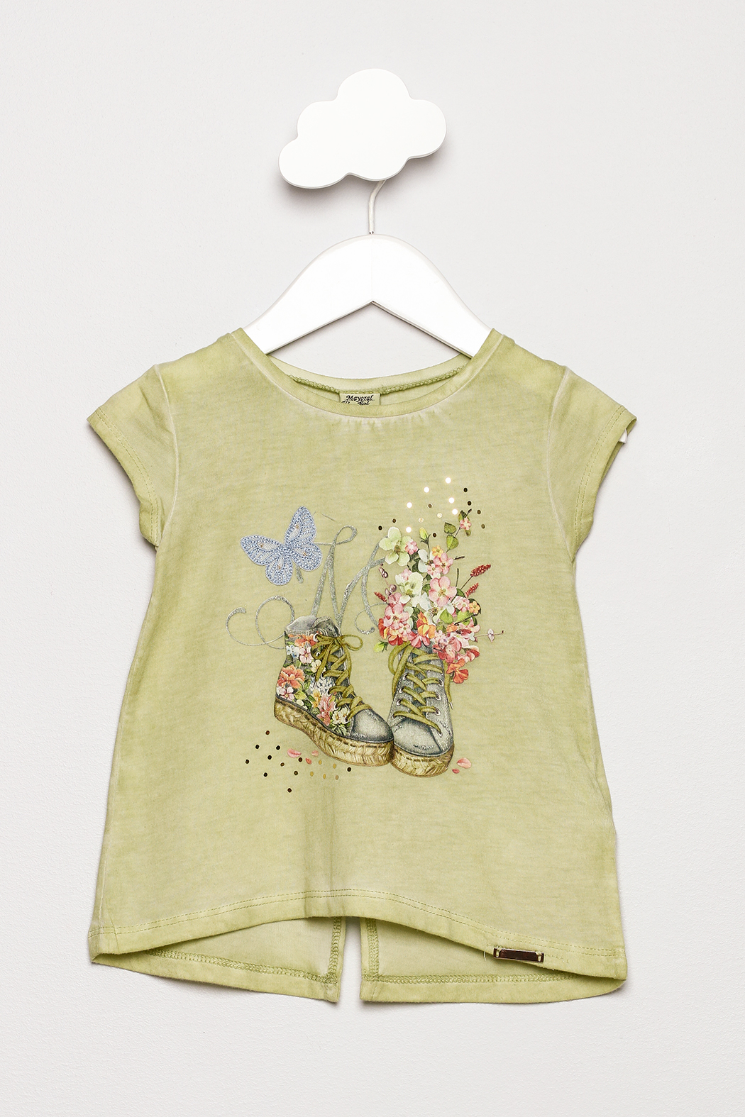 Mayoral Short Sleeve Shoes Shirt - Front Cropped Image