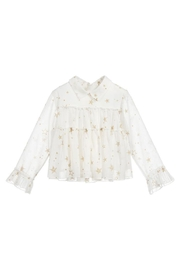Mayoral Stars Gauze Blouse - Front cropped