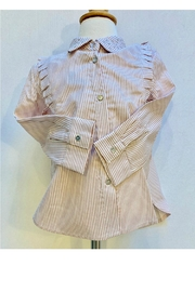 Mayoral Striped Sparkle Polo - Product Mini Image