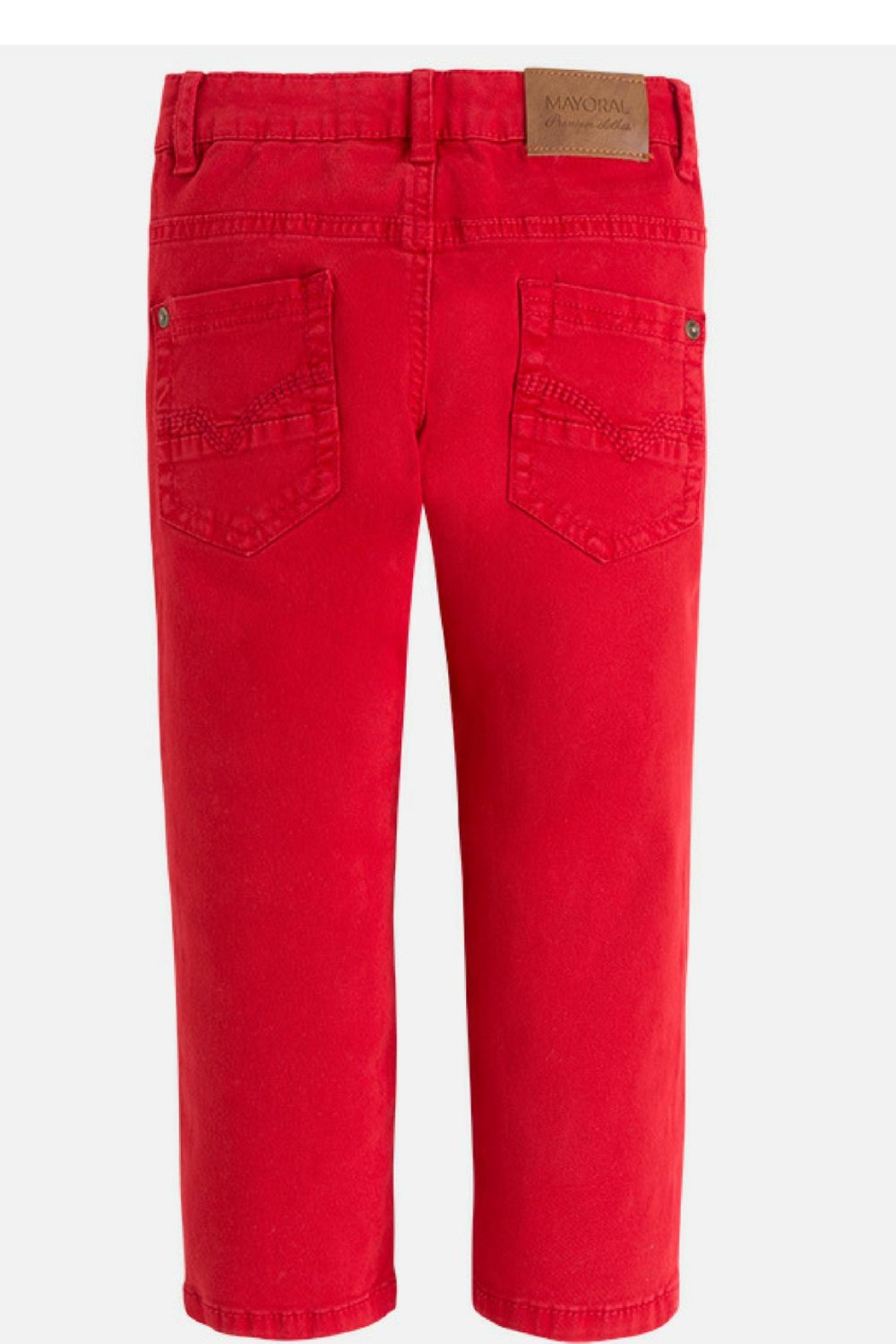 Mayoral Watermelon Chinos - Front Full Image