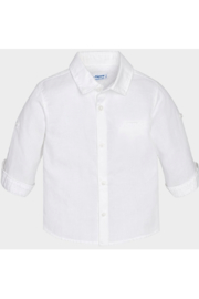Mayoral White Linen Button Up - Front cropped