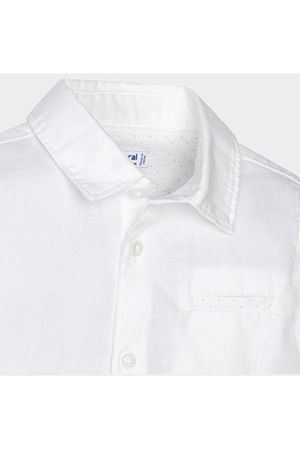 Mayoral White Linen Button Up - Front Full Image