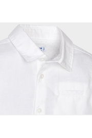 Mayoral White Linen Button Up - Front full body