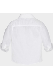 Mayoral White Linen Button Up - Back cropped