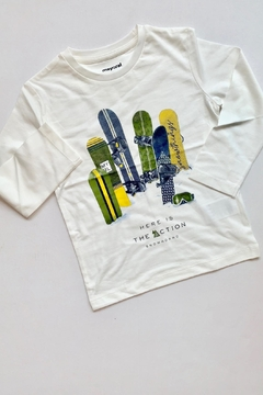 Shoptiques Product: White Snowboard Tee