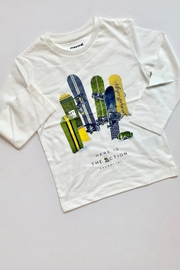 Mayoral White Snowboard Tee - Front cropped