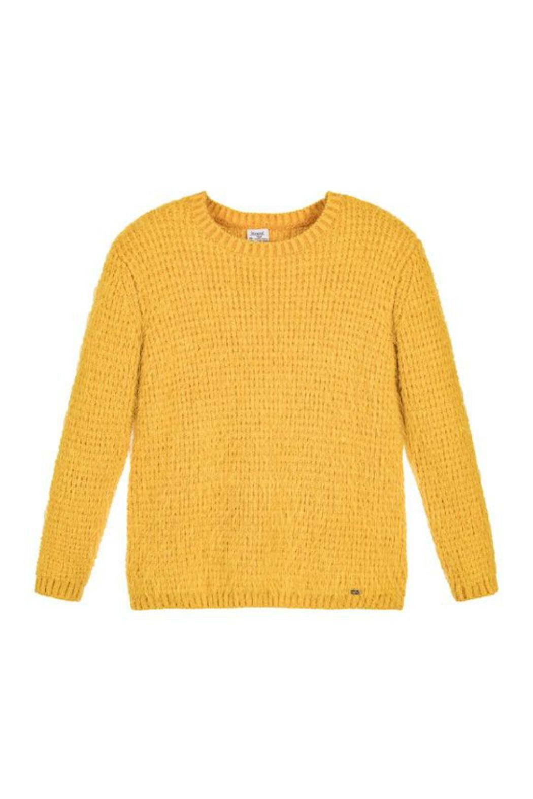 Mayoral Yellow Knitted Sweater from Canada by Studio Kidz — Shoptiques